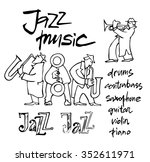 musicians design concept set... | Shutterstock .eps vector #352611971