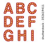 alphabet letters with retro... | Shutterstock .eps vector #352619411