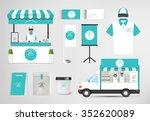 restaurant cafe set shop front... | Shutterstock .eps vector #352620089