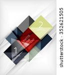 paper square shapes banner....   Shutterstock .eps vector #352621505