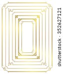 decorative gold frame set vector | Shutterstock .eps vector #352627121