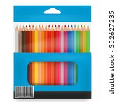 box o colored pencils | Shutterstock .eps vector #352627235