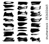 abstract black smears big set... | Shutterstock .eps vector #352632665
