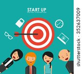 start up design  vector... | Shutterstock .eps vector #352637009