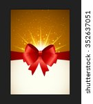 invitation card with bow ...   Shutterstock .eps vector #352637051