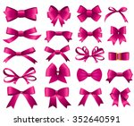 Pink Ribbon And Bow Set For...