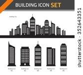 vector building icon set | Shutterstock .eps vector #352643351