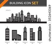 vector building icon set | Shutterstock .eps vector #352643369
