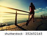 young fitness woman runner... | Shutterstock . vector #352652165