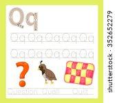 illustrator of q exercise a z... | Shutterstock .eps vector #352652279