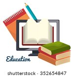 online learning and education... | Shutterstock .eps vector #352654847