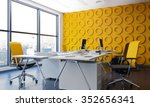 modern office interior with... | Shutterstock . vector #352656341