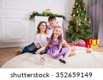 family portrait with the child... | Shutterstock . vector #352659149