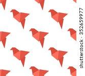 origami bird seamless pattern.... | Shutterstock .eps vector #352659977