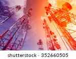 telecommunication mast tv...   Shutterstock . vector #352660505
