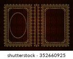 vector classical book cover.... | Shutterstock .eps vector #352660925