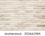 black and white brick wall art... | Shutterstock . vector #352661984