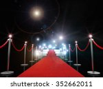 3d image of classic red carpet | Shutterstock . vector #352662011