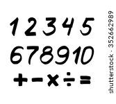 set of numbers and mathematical ... | Shutterstock .eps vector #352662989