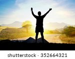 silhouette of man with arms... | Shutterstock . vector #352664321