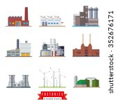 factories and power plants... | Shutterstock .eps vector #352676171