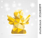 Golden Low Poly Angel With...