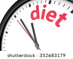 dieting time healthy lifestyle... | Shutterstock . vector #352683179