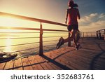 young fitness woman runner... | Shutterstock . vector #352683761