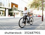portrait of happy young female... | Shutterstock . vector #352687901