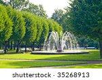 Fountains In Park In Saint...