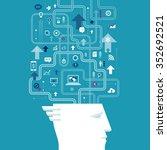 business vision. business... | Shutterstock .eps vector #352692521