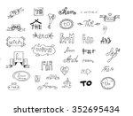 hand drawn catchwords... | Shutterstock .eps vector #352695434
