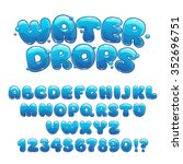 cartoon water drops font  funny ... | Shutterstock .eps vector #352696751