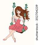 Beautiful Romantic Girl Cute...