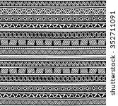seamless ethnic pattern. black... | Shutterstock .eps vector #352711091