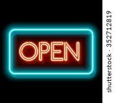 retro club inscription open.... | Shutterstock .eps vector #352712819