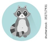 illustration of a cute raccoon  ... | Shutterstock . vector #352717931