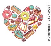 love pastry sweets vector... | Shutterstock .eps vector #352719317
