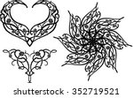 roses and thorns variation of... | Shutterstock .eps vector #352719521