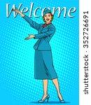 welcome stewardess travel... | Shutterstock .eps vector #352726691