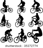bicycle vector | Shutterstock .eps vector #35272774