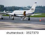 private plane sits on the...