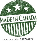 made in canada grunge seal | Shutterstock .eps vector #352744724