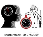 time pressure for doctor and...   Shutterstock . vector #352752059