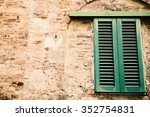 italian window with closed... | Shutterstock . vector #352754831