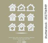 houses vector icon | Shutterstock .eps vector #352756949