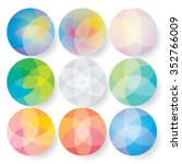 set of colorful round abstract... | Shutterstock .eps vector #352766009