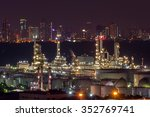 landscape of oil refinery... | Shutterstock . vector #352769741