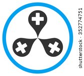 hospital map markers vector... | Shutterstock .eps vector #352774751
