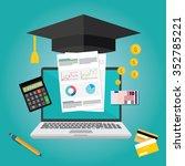education finance | Shutterstock .eps vector #352785221